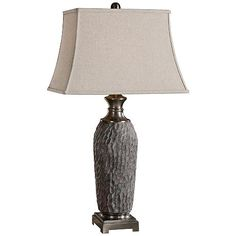 Uttermost Tricarico Ceramic Old Stone Bronze Table Lamp