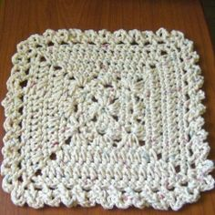 Granny Style Dish Cloth: free pattern
