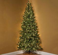 7 Foot Pre Lit Corner Christmas Tree