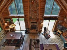 Vacation in Northwoods executive style and comfort at Cajun's Cove a beautiful vacation home rental on Lake Namakagon in Cable, Wisconsin only 20 miles from Hayward, WI. Vacation Home Rentals, Log Furniture, Stone Veneer, Bedroom Loft, Distance, Hardwood, Walking, Exterior, House Design