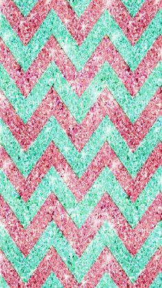 'Chevron Pattern, pink & teal glitter photo print ' iPad Case/Skin by GirlyTrend Chevron Pattern Wallpaper, Chevron Patterns, Teal Chevron, Glitter Chevron, White Glitter, Glitter Photo, Son Luna, College Students, Bible Verses