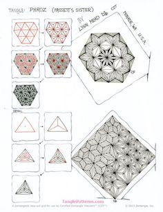 Zentangle pattern: Phroz