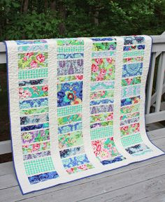 Love baby quilt - Sliced Coins QAL & Blogger's Quilt Festival