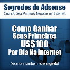 Aprenda a ganhar muito dinheiro no Google Adsense com este fantástico curso! http://www.ossegredosdogoogleadsense.blogspot.com/