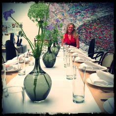Barbara Broekman at the beautiful Vondel Hotels lunch table