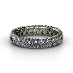 Cloaked in Hearts Band, Palladium Ring with Sapphire from Gemvara- WANT IT!