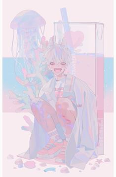 Manga Kawaii, Arte Do Kawaii, Kawaii Art, Art And Illustration, Anime Kunst, Anime Art, Pretty Art, Cute Art, Aesthetic Art