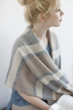 """""""Every day is an outing in this stunning blanket stripe wrap – just throw it on and go! The stripes were meticulously composed for a bold yet balanced look. It's the perfect wardrobe piece for a chic-with-ease look, and a great replacement for a jacket during transitional weather. I've also included a scarf version, which …"""
