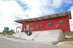 Primary School Classroom Built Out Of Single Shipping Container : TreeHugger