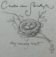 Messy nest sketch - Charles van Sandwyk