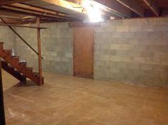 Basement Floor After.
