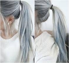 Risultati immagini per silver hair shatush