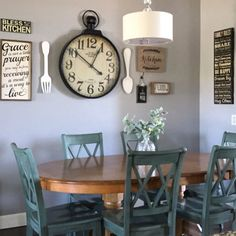 Farmhouse style Kitchen gallery wall