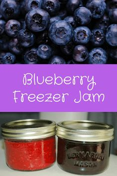 Capture the deliciousness of the summer blueberries in this easy and yummy blueberry jam. No need to can it, just freeze it! Frozen Blueberry Jam Recipe, Blueberry Freezer Jam, Cherry Freezer Jam, Blueberry Farm, Blueberry Recipes, Freezer Jam Recipes, Jelly Recipes, Canning Recipes, Canning Jars