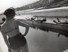 Morning Gymnastics on the Roof of a Students' Hostel in Lefortovo by Alexander Rodchenko, 1932