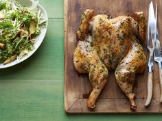 Roast Basil Chicken, Basil Baby Potatoes, Frisee Plum Salad Recipe   Food Network Kitchen   Food Network