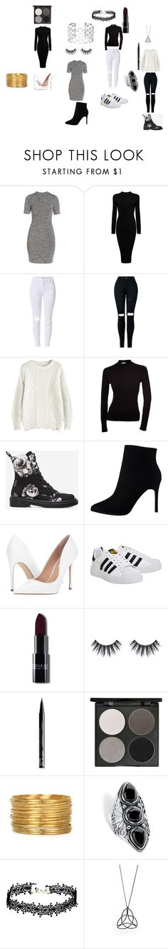 """""""Fall night on the town and casual"""" by asvcool ❤ liked on Polyvore featuring French Connection, Steve Madden, adidas, NYX, Gorgeous Cosmetics, Verdura and Palm Beach Jewelry"""