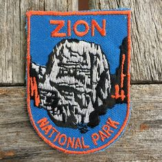 Zion National Park Vintage Souvenir Travel Patch from Voyager - LAST ONE! by HeydayRoadTrip on Etsy