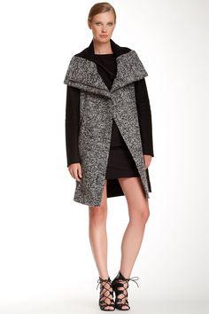Wool Lulu Tech Boucle Long Coat by Diane von Furstenberg on @nordstrom_rack