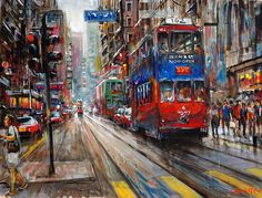 Cityscapes Paintings by Van Tame