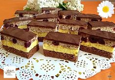 Fantázia szelet, bámulatos krémes süti, finomabbat el se lehet képzelni! - Egyszerű Gyors Receptek Dessert Bars, Dessert Recipes, Torte Cake, Hungarian Recipes, Recipe Collection, Cake Cookies, Muffin, Food And Drink, Sweets