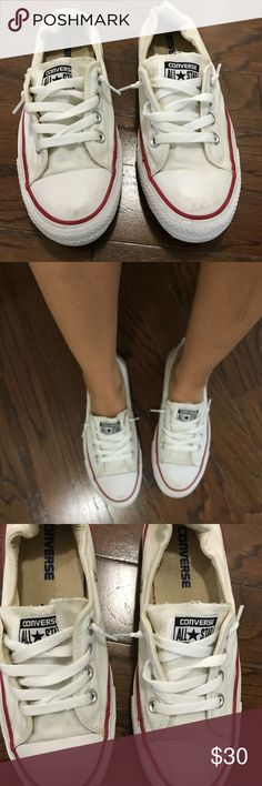 Slip On White Converse Size 7.5 White slip on Converse sneakers. Size 7.5 Converse Shoes Sneakers