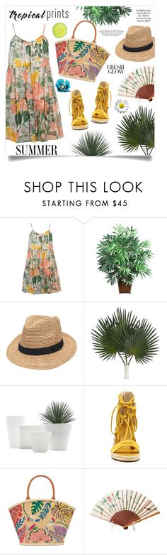 """Hot Tropics"" by anchilly23 ❤ liked on Polyvore featuring Dorothy Perkins, Nearly Natural, Gottex, Vince Camuto and Tory Burch"