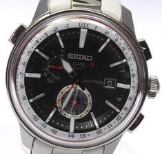 Seiko Astron SBXA 045 7X52-0AM0 Genuine Leather Belt Solar Radio Men's #SEIKO