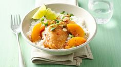 Make-Ahead Slow-Cooker Asian Peach Chicken Thighs - A little bit of sweet, a little bit of heat and a whole lot of easy – this make-ahead slow-cooker meal is sure to please both the diners and the chef. Best Slow Cooker, Slow Cooker Recipes, Crockpot Recipes, Cooking Recipes, Delicious Recipes, Yummy Food, Make Ahead Meals, Freezer Meals, Freezer Cooking