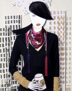 """""""Louis Vuitton, che per presentare al grande pubblico la sua nuova – e geniale – collezione di foulard per l'Inverno 2011 creata in collaborazione con François Cadière, ha chiesto proprio a quest'artista belga (noto per opere di fotografia surrealista e per collage vivaci e stravaganti) di rappresentarla comme il faut. Il risultato? Una collezione Eden variopinta e movimentata, """"indossata"""" proprio da alcune divertenti modelle in formato cartaceo, ritratte dallo stesso Cadière. Con queste…"""
