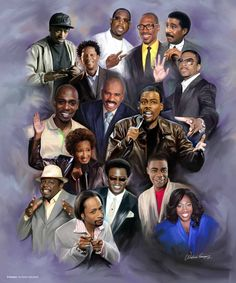 Art Black Love, Black Is Beautiful, Beautiful Oops, Beautiful Dresses, Queens Of Comedy, Cedric The Entertainer, Rap, Black Art Pictures, Famous Black