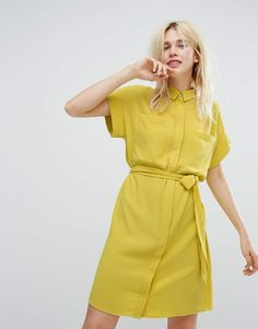 3b460aa388a Monki Tie Waist Shirt Dress . Click the pic for outfit details  fashion   affiliate