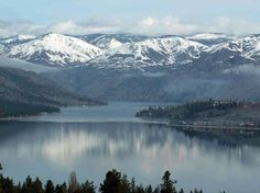 Lake Chelan in the state of  Washington, USA:  53 miles long, fed from mountain springs.