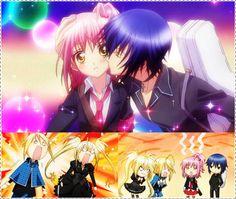 Shugo Chara Amu and Ikuto | ikuto and amu kiss! - anime:shugo chara musica:strange-tokio hotel ...