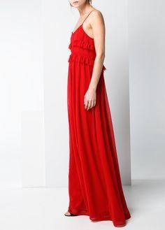 Długa sukienka szydełkowy wzór
