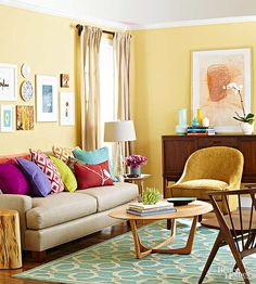 7 Paint Colors That Flatter Yellow Wood Tones Sherwin-Williams Banana Cream might look great in the living room
