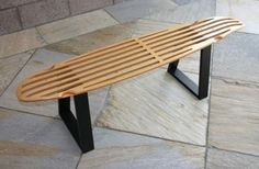 ideas for upcycled furniture design skateboard bench