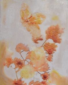 """Terra Cotta Memory"" Encaustic wax and photo paper. 8 x 10"" 2013"