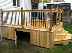 Simple Relatively Inexpensive Cedar Deck With Aluminum