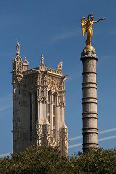 Paris monumental... Tour St Jacques.... Torre de Santiago.. Dónde se reunían los peregrinos para emprender el camino..