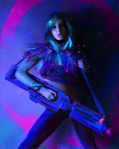 Ivan Khomenko is a freelance concept artist and digital illustrator based in Kostroma, Russia. He currently works as a concept artist at One Pixel Brush. Cyberpunk Girl, Cyberpunk Character, Character Concept, Character Design, Concept Art World, Tough Girl, Sci Fi Characters, Cosplay, Robot Girl