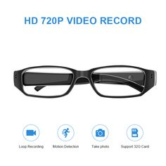 db12c51209c58 APP Remote WiFi Hidden Spy Camera Eyeglasses with Video Recording