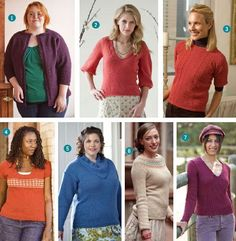 7 Free Sweater Knitting Patterns! from Knitting Daily