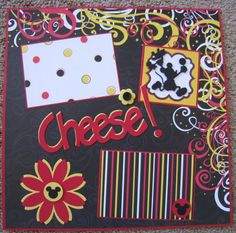12 x 12 Disney Scrapbook Layout Say Cheese by TwoCraftyCreations