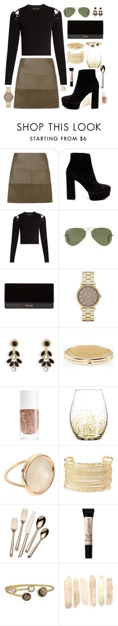 """""""Anatomy"""" by anishagarner ❤ liked on Polyvore featuring Casadei, Proenza Schouler, Ray-Ban, Balmain, Marc Jacobs, Vera Bradley, Chico's, Ginette NY, Charlotte Russe and Towle"""