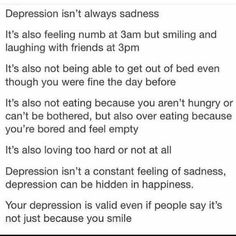 Many depressed people hide behind a smile