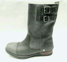 Sorel SOREL MAJOR PULL ON WOMEN'S BOOTS GRILL QUARRY CHARCOAL GRAY size 8