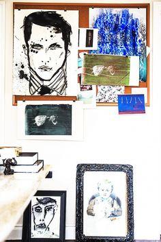 Grouping of artwork.
