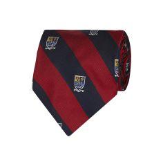 POLO RALPH LAUREN Krawatte mit Wappen-Stickerei in Rot | FASHION ID Online Shop