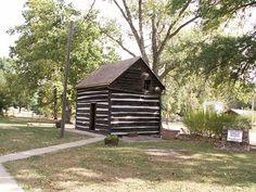 John Brown's Cave - located near Nebraska city, Nebraska. It is actually a tunnel in the cellar of Allen Mayhews log cabin which was built in 1850. It was used to hide and move slaves on the underground railroad. The Cabin is now called John Brown's Cave.
